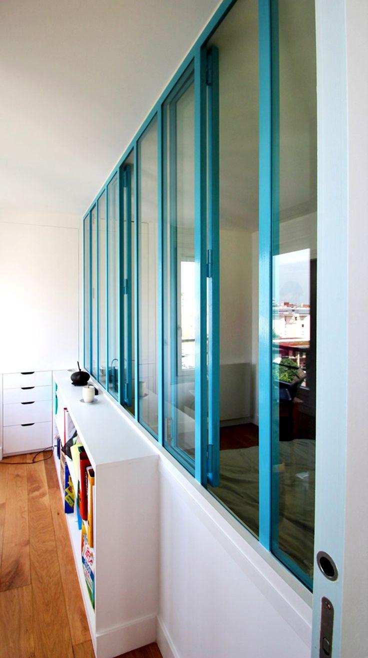 55 best images about verriere inspirations pa pinterest With meuble pour separer cuisine salon 6 amenagement chambre dans un cube paris buttes aux cailles