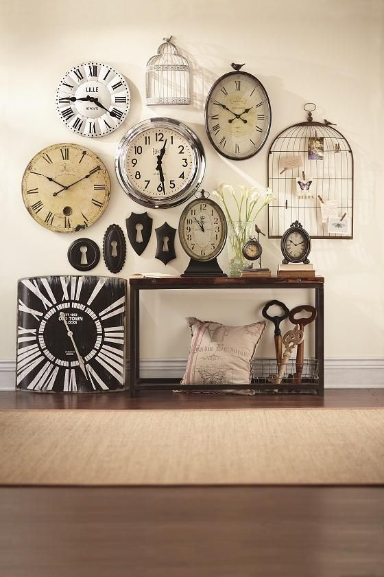 Wall Of Clocks Decor : Best ideas about wall of clocks on picture