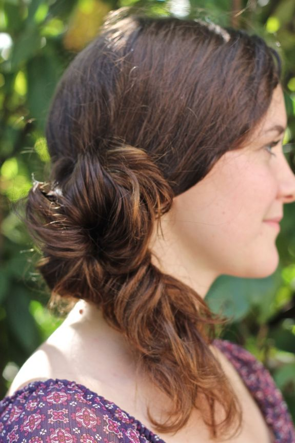 Messy Side Bun Ponytail    Turn a side bun into a ponytail.   Get the tutorial at Henry Happened.