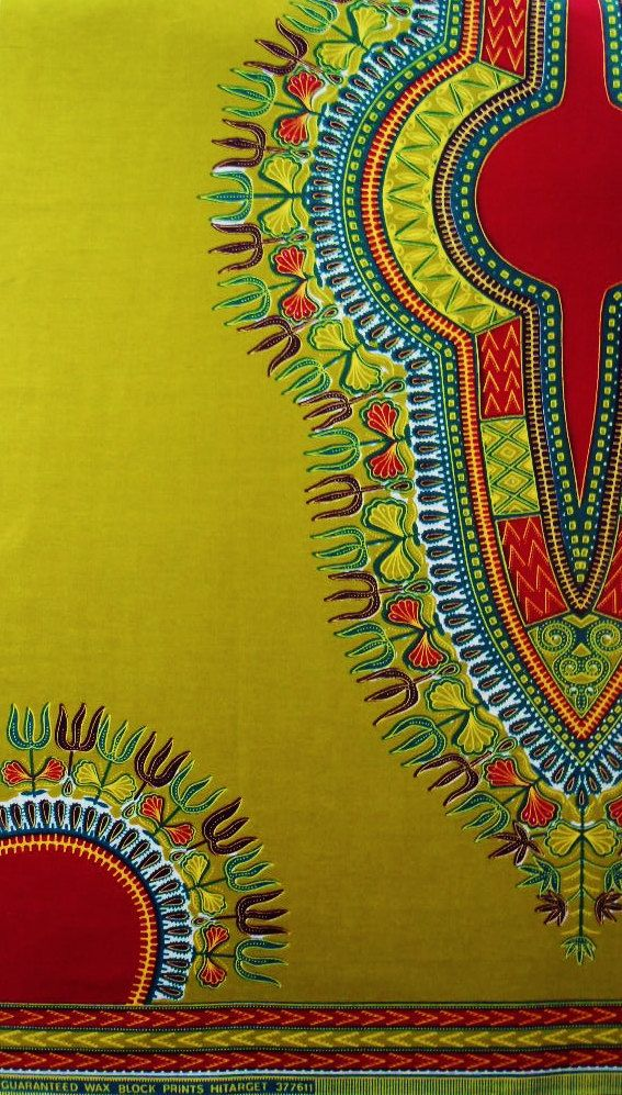 African Print Dashiki Angelina Fabric sold per panel by Ktextile19, £6.00