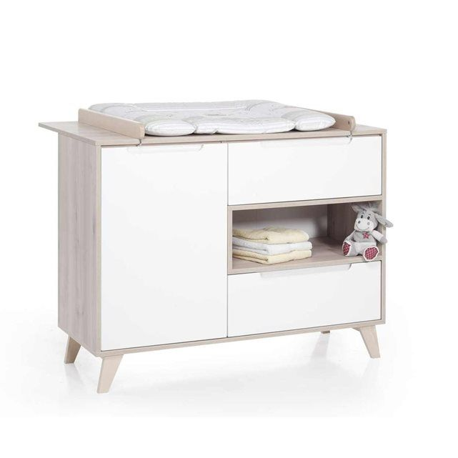 Commode à langer mette naturel / blanc geuther Geuther | La Redoute
