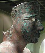 Hierakonpolis (Egypt): Close up of Copper Statue of Pepi I (6th Dynasty Old Kingdom) Found at Hierakonpolis