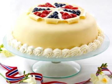 17.mai-marsipankake (The 17 May marzipan cake)