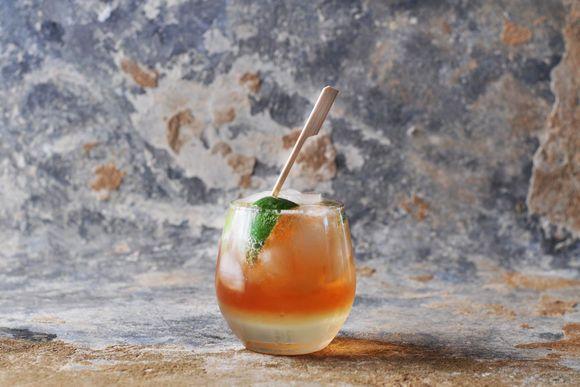Verjuice, Lime and Bitters Mocktail - Maggie Beer