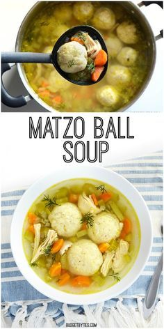 Matzo Ball Soup - Warm, comforting, and sure to make you feel better on a cold blustery day. BudgetBytes.com