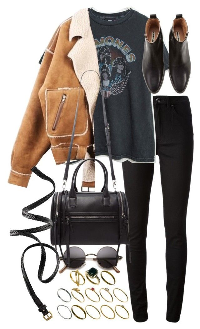 """Untitled #9761"" by nikka-phillips ❤ liked on Polyvore featuring Acne Studios, Brandy Melville, Forever 21, ASOS and H&M"