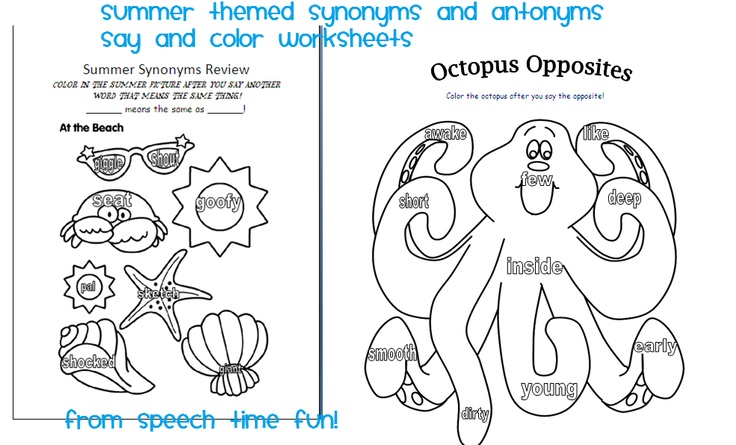 Summer themed say and color worksheets!  -  Pinned by @PediaStaff – Please Visit http://ht.ly/63sNt for all our pediatric therapy pins: Summer Speech, Ocean Theme, Speech Language, Classroom Freebies, Color Worksheets, Speech Time, Speech Therapy, School Stuff, Therapy Ideas