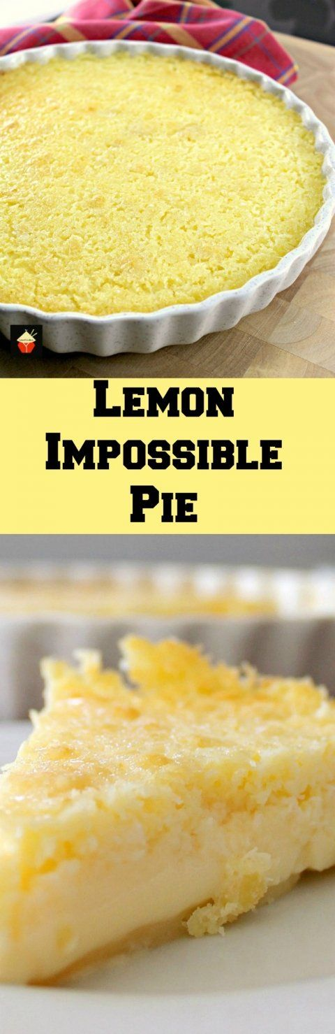 Lemon Impossible Pie! Incredibly easy to make and the flavor is amazing! | Lovefoodies.com