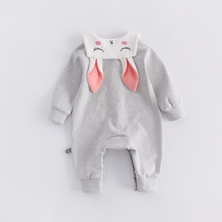 Peninsula baby cute cartoon rabbit pure color baby climbing clothes thick cotton long sleeve baby Crawling Coverall Romper. Yesterday's price: US $32.00 (25.99 EUR). Today's price: US $17.92 (14.56 EUR). Discount: 44%.