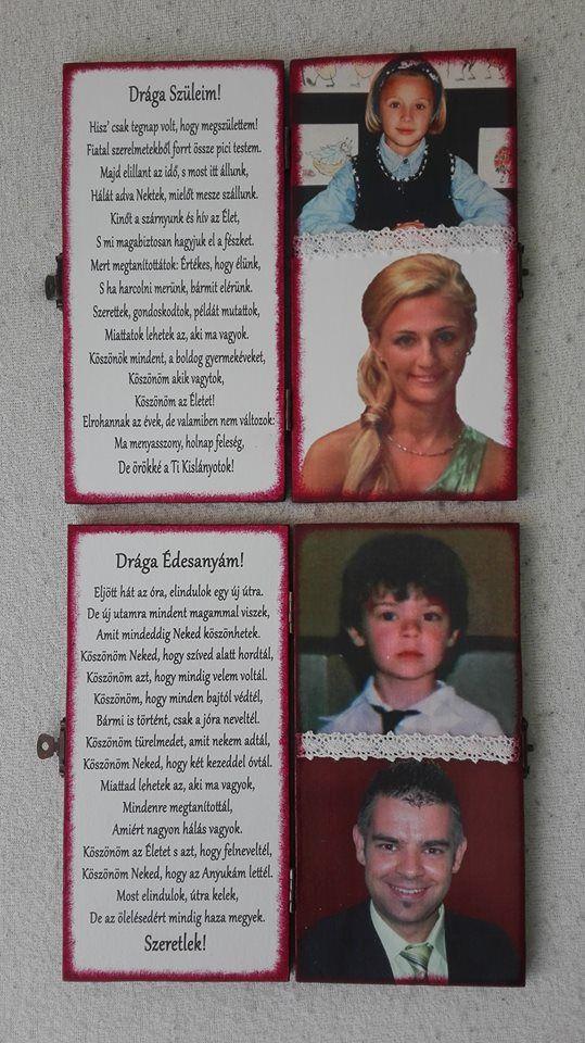 Fa szülőköszöntő  könyvecske képekkel :)