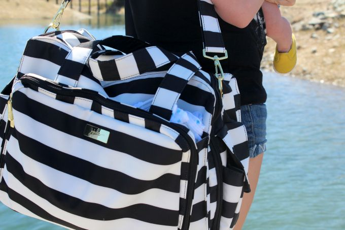 Ju Ju Be striped diaper bag