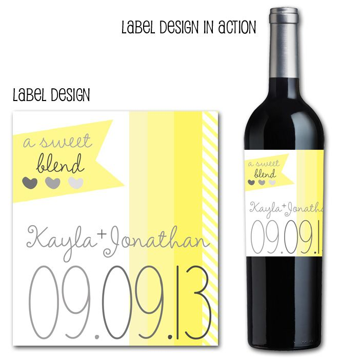 Eat Drink And Be Married Wine Labels Wedding Wine Labels: 43 Best Yellow And Grey Wedding Images On Pinterest