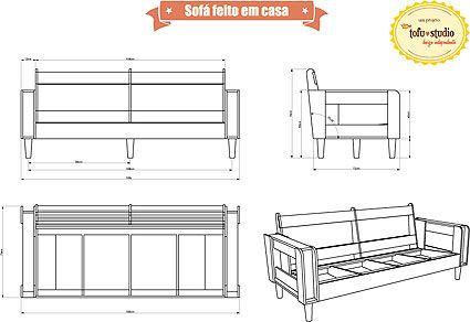 Projeto sofa sof feito em casa casa e decora o for Sofa bed uma