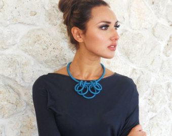 Pendant Statement Textile Necklace Carnivale