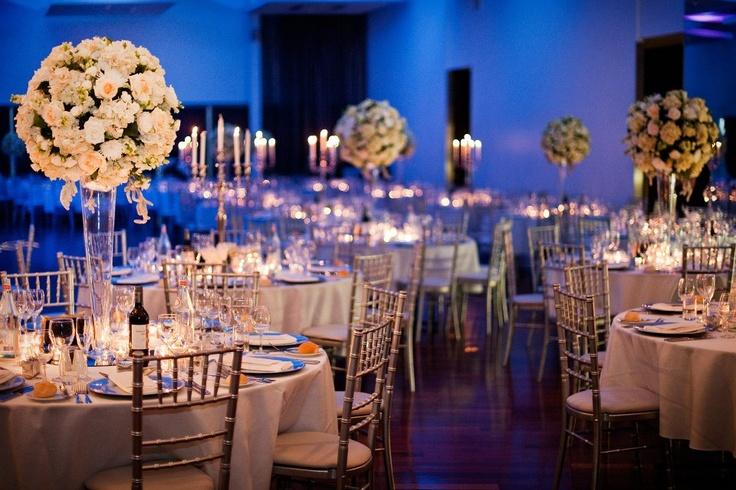 Blue wedding reception at Moda Events, Brisbane | G&M DJs | Magnifique Weddings #gmdjs #magnifiqueweddings #weddinglighting #weddingdjbrisbane #modawedding #modaevents @gmdjs @modaeventsvenue