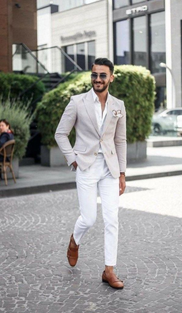 40 Casual Chic Summer Wedding Outfit Ideas For Men Men Style Casual Chic Summer Mens Summer Outfits Stylish Business Outfits Mens Fashion Summer