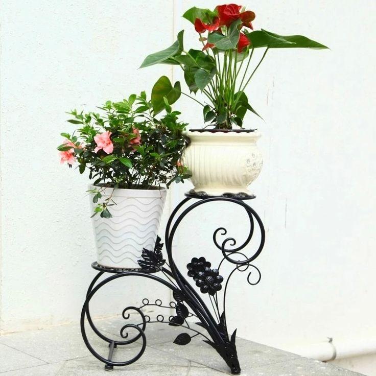 Soportes para plantas hierro buscar con google macetas de hierro pinterest - Soportes para macetas ...