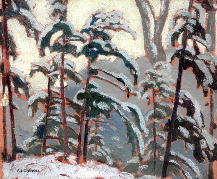 A.J. Casson - Trees In Winter 1930