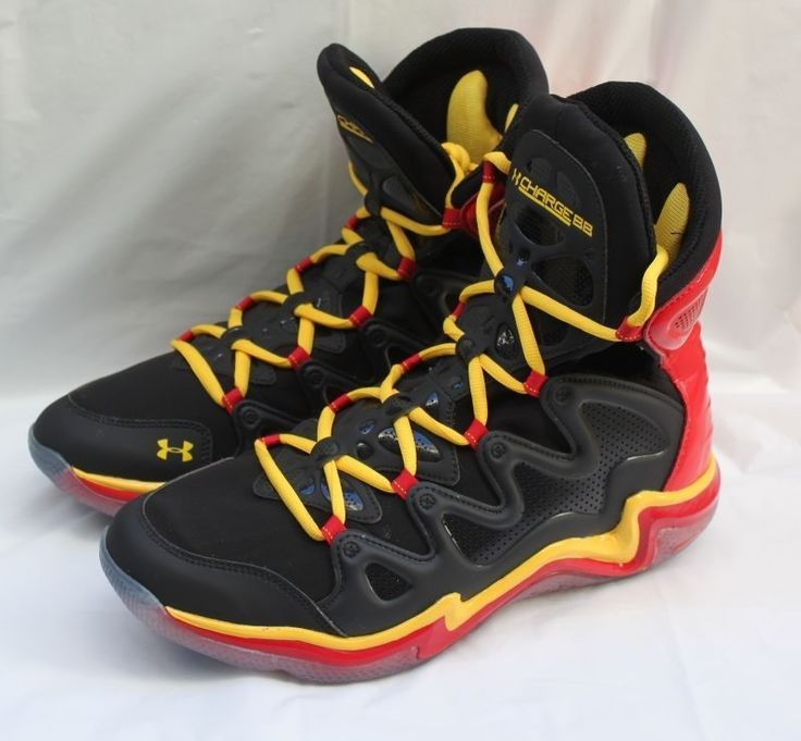UNDER ARMOUR MICRO G CHARGE BB MEN S BASKETBALL SHOES SIZE 12.5 BLACK/RED/