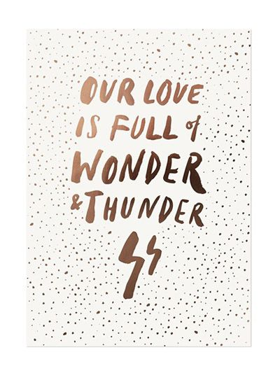Wonder and Thunder A3 Limited Edition Print at Hello Polly. This is one of those gifts that will bring a smile to anyone's dial. They're limited edition, so snap one up before they sell out, and start thinking about where you'll hang it (if you're crafty and choose to give it to someone in your own household).