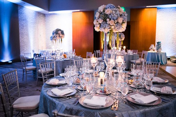 Elegant Disney Wedding Reception at Four Seasons Hotel Silicon Valley | Annie Hall Photography | See more on My Hotel Wedding: https://www.myhotelwedding.com/blog/2016/04/11/elegant-disney-wedding-at-four-seasons-hotel-silicon-valley/
