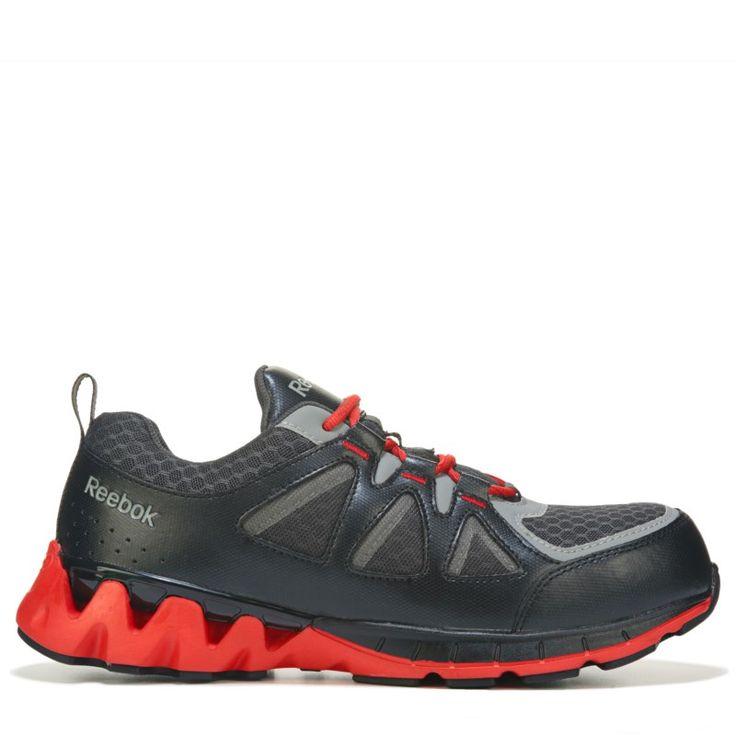 Reebok Work Men's Zigkick Work Medium/Wide Composite Toe Work Shoes  (Black/Red)