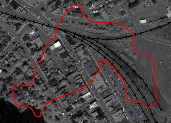 Animation map of Lac-Mégantic disaster
