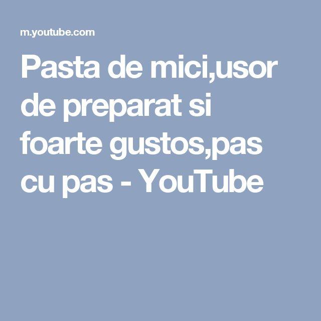 Pasta de mici,usor de preparat si foarte gustos,pas cu pas - YouTube