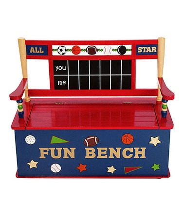 All Star Sports Storage Bench by Levels Of Discovery: All Star, Benches, Stars, Box Bench, Toys, Toy Boxes, Kid