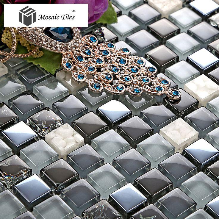 tst crystal glasstile black blue glass mosaic bathroom