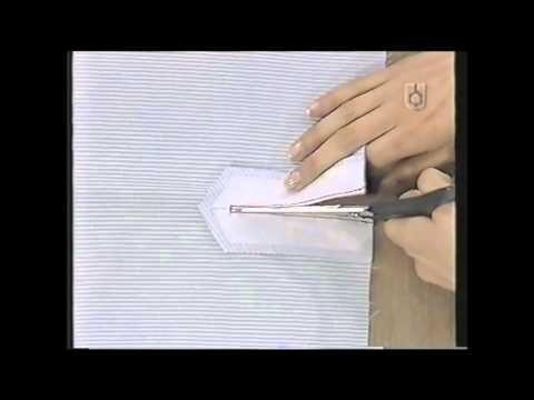 Puntos y Puntadas 415. Cartera abierta y Puño de la Manga en una Camisa Dama. - YouTube