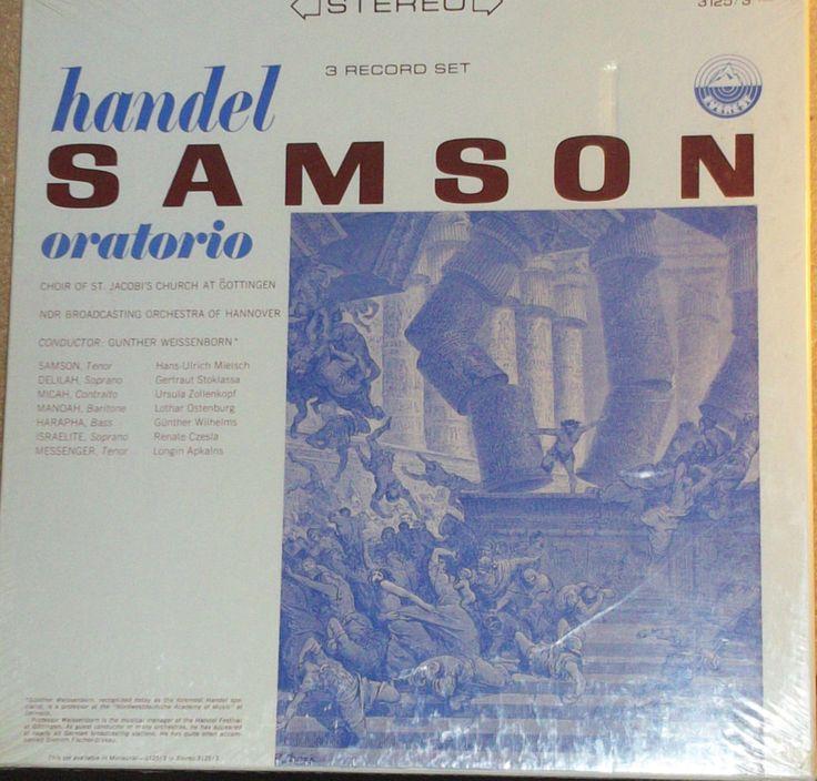 Handel Samson Oratorio Sealed 3LP Classical BoxSet Record by RASVINYL on Etsy