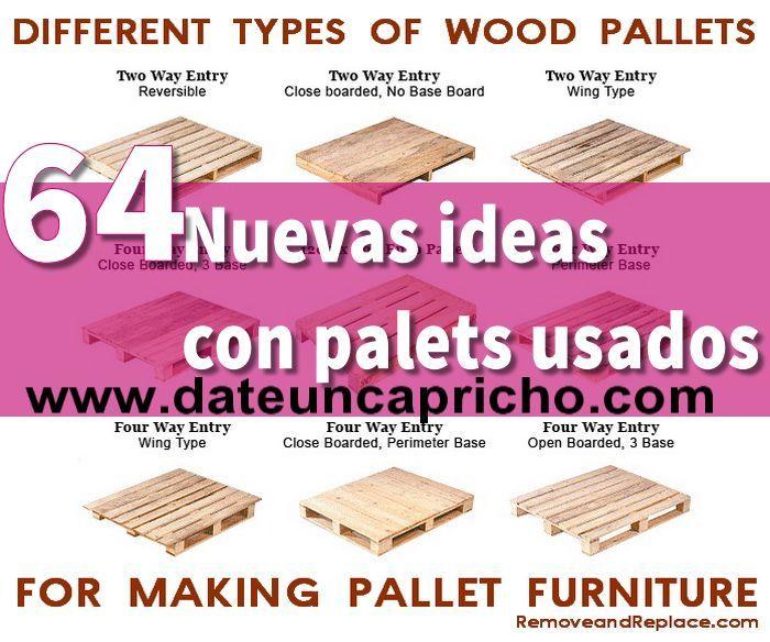 64 nuevas ideas con palets usados
