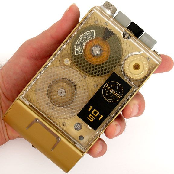 Vintage spy tape recorder. Early 1960s cold-war era Fi-Cord 101S. Made in Switzerland.  // ▽ 5´...
