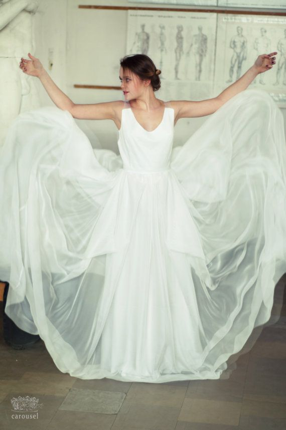 Simple wedding dress // Diane by CarouselFashion on Etsy
