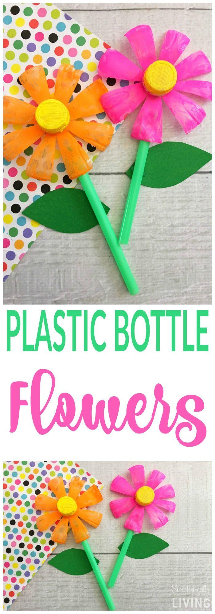 Plastikflaschenblumen (Upcycle Project) – der perfekte Weg, um all diese …