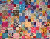 colorful baby quilt etsy