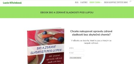 Lucie Křivinková a její ebook ZDARMA: Bio a zdravé sladkosti pod lupou