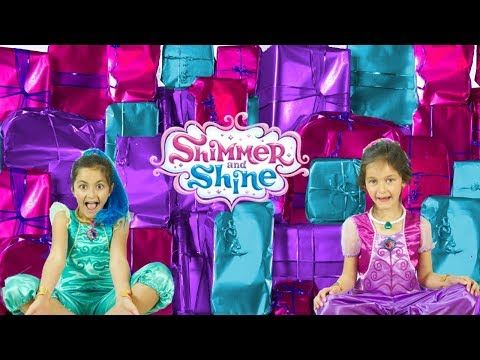 SHIMMER AND SHINE BIRTHDAY PRESENTS OPENING! Shimmer & Shine Song Learn Colors English Compilation - YouTube