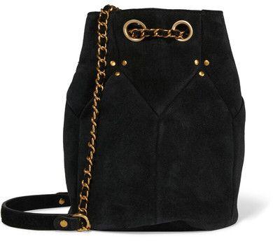 Jérôme Dreyfuss - Popeye Medium Suede Bucket Bag - Black // LOVE!! // #affiliate