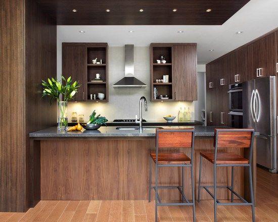 キッチン Riverdale Home ペニンシュラ - ダブルボウル 戸建 間取り インテリア実例