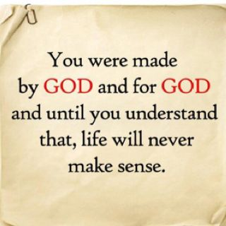 So true.  Loving God will give your life purpose and direction. Not sure how the atheists do it.