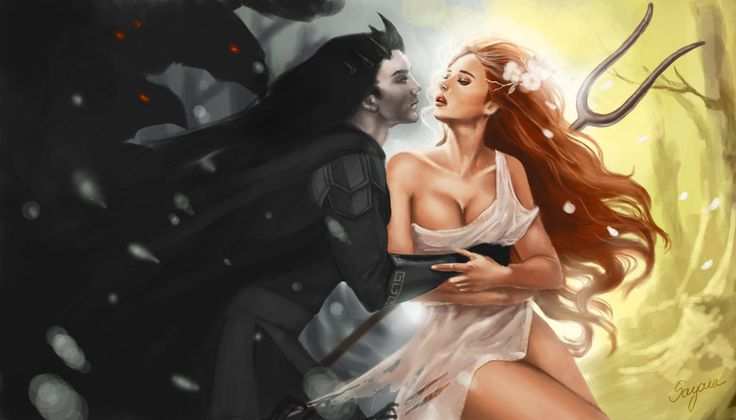 Hades & Persephone He saw the darkness in her beauty... She saw the beauty in his darkness.