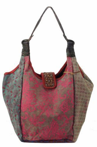 ANOKHI-Canvas-Shopper-Bag-Schultertasche-Umhaengetasche-Handtasche-Bag-Neu