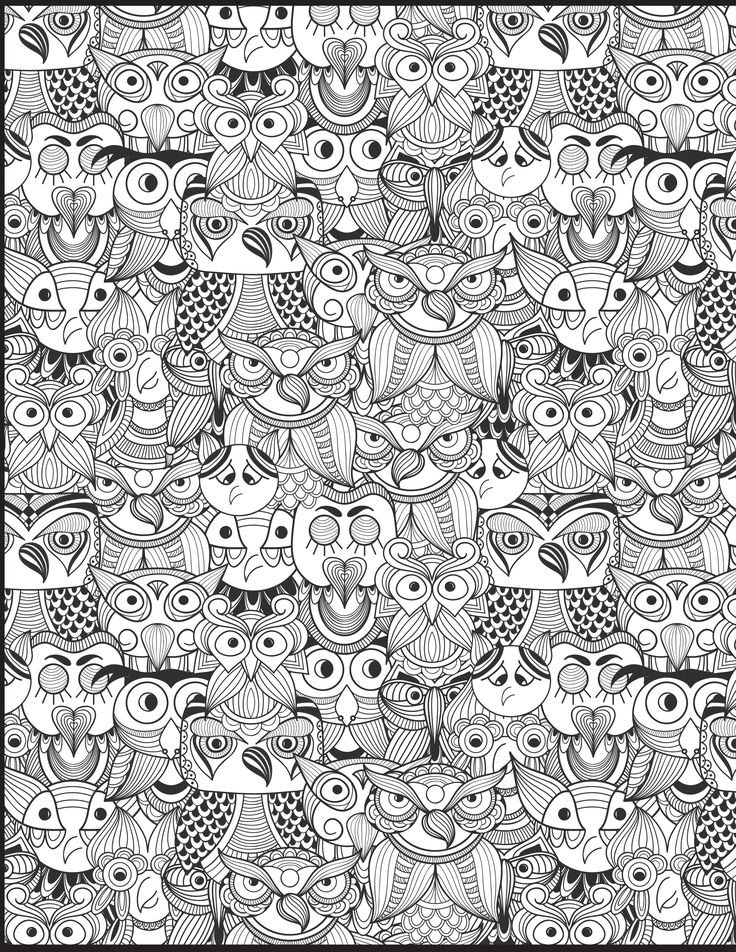 The owl doodle from Doodle Coloring Book Vol. 2 is one of my favs.
