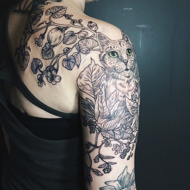 Magical Flora & Fauna Tattoos Inspired By Vintage Drawings | Bored Panda
