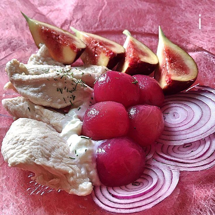 izoom's dish photo ヘルシー ランチ プレート   Healthy lunch plate | http://snapdish.co #SnapDish #美容/ダイエット #お昼ご飯 #フルーツ #ヨーグルト #野菜料理