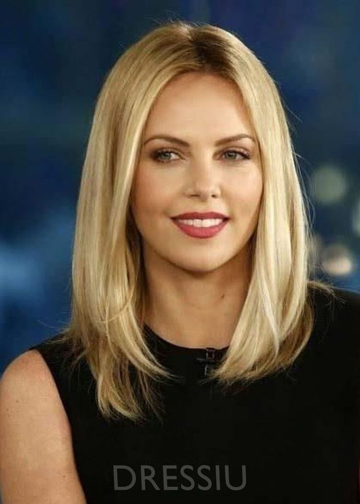 Sexy Lob Top Quality Natural Straight Medium Synthetic Hair Capless Wigs 16 Inche