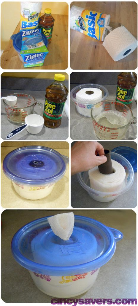 Toallitas Desinfectantes ... Una buena manera de reducir los costos y aún así mantener limpia la zona de picnic