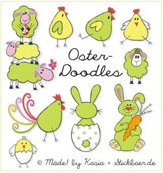 Der Stickbaer | Easter Doodles | Embroidery from heart